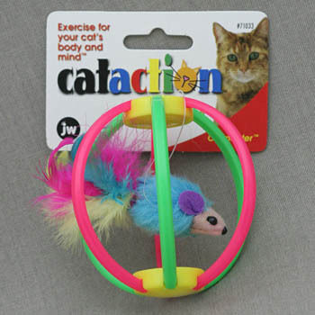 Игрушка для кошек мышка в клетке